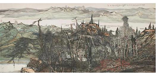 朱道平《运河两岸度春秋》104cm×233cm